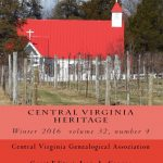 Order a print copy of Central Virginia Heritage, Winter 2016