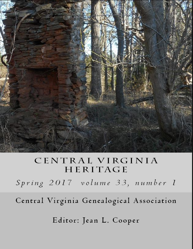 Click here to buy a printed copy of Central Virginia Heritage, Spring 2017 issue today
