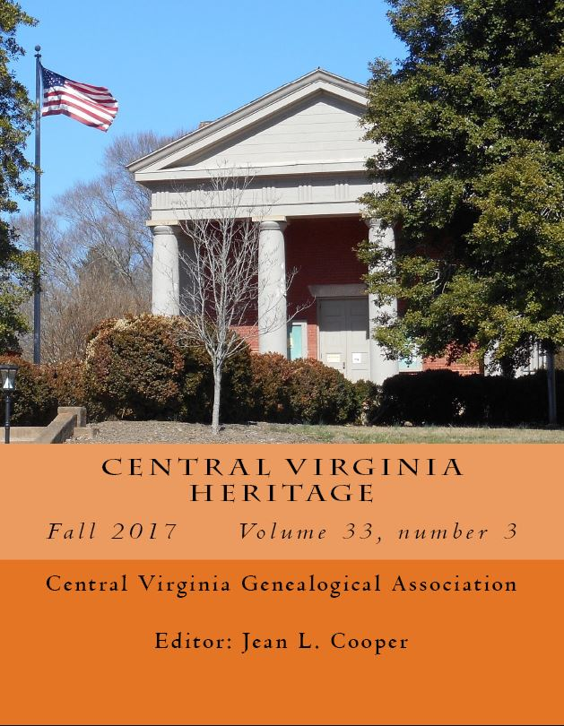Order a print copy of Central Virginia Heritage, Fall 2017