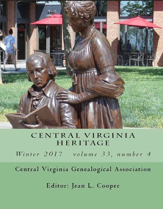 Click here to buy a printed copy of Central Virginia Heritage, Winter 2017 issue today
