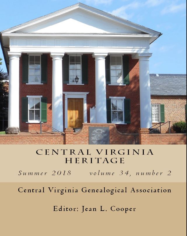 Order a print copy of Central Virginia Heritage, Summer 2018