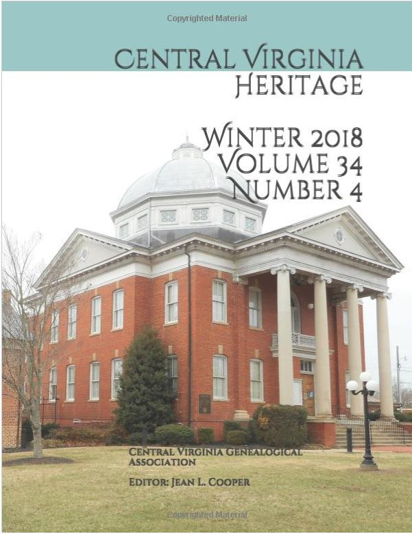 Click here to buy a printed copy of Central Virginia Heritage, Winter 2018 issue today