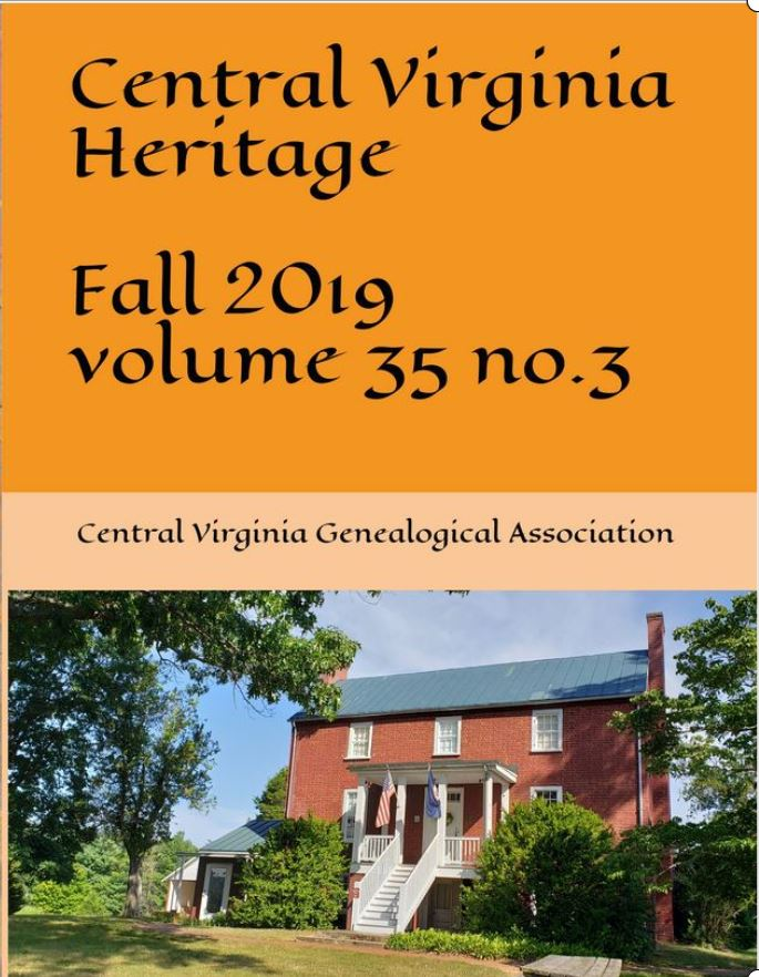 Order a print copy of Central Virginia Heritage, Fall 2019