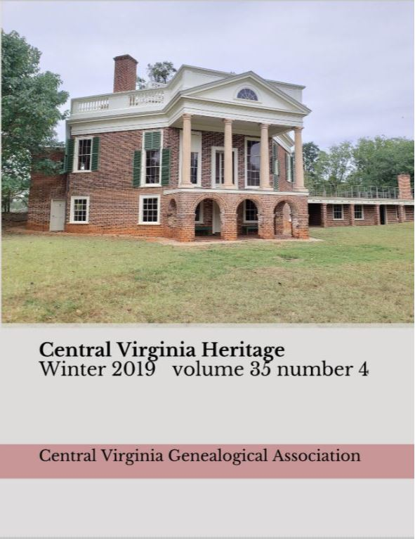 Order a print copy of Central Virginia Heritage, Winter 2019