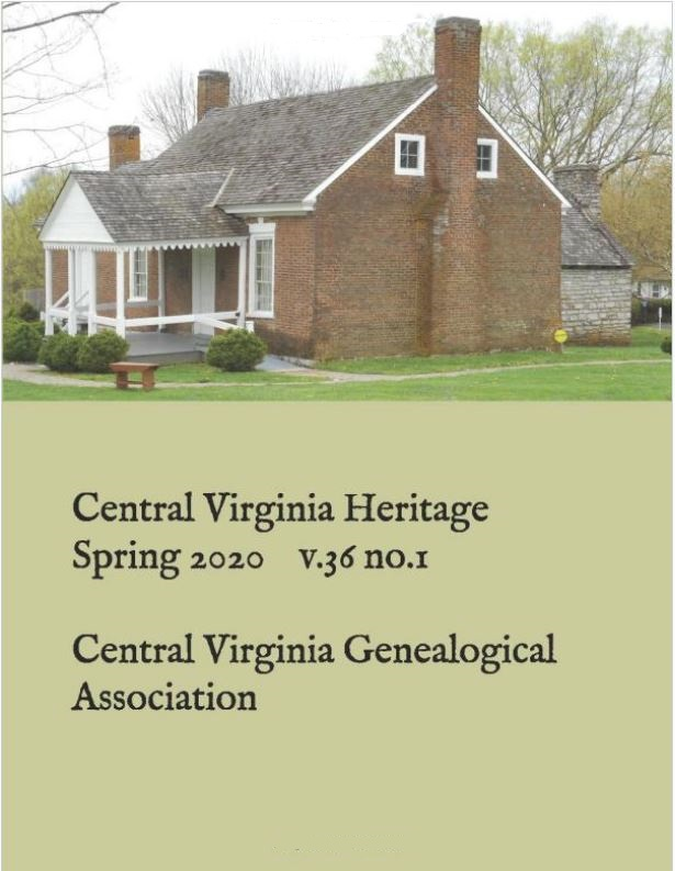 Order a print copy of Central Virginia Heritage, Spring 2020