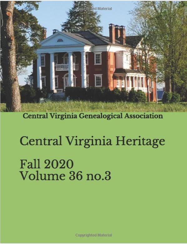 Order a print copy of Central Virginia Heritage, Fall 2020
