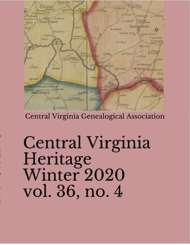 Order a print copy of Central Virginia Heritage, Winter 2020